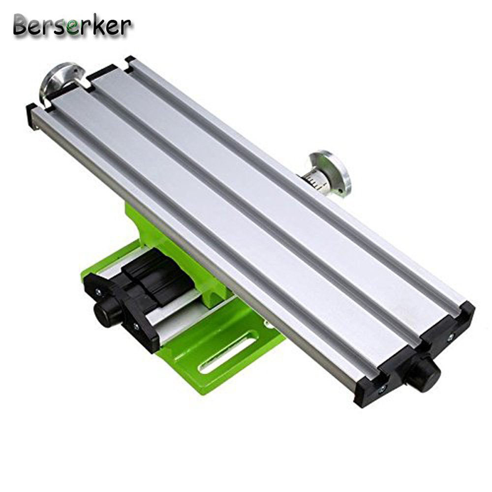 Berserker Compound cross Slide Table Mini Compound Bench worktable X Y Axis Adjustable for milling machine 6300 Free shipping
