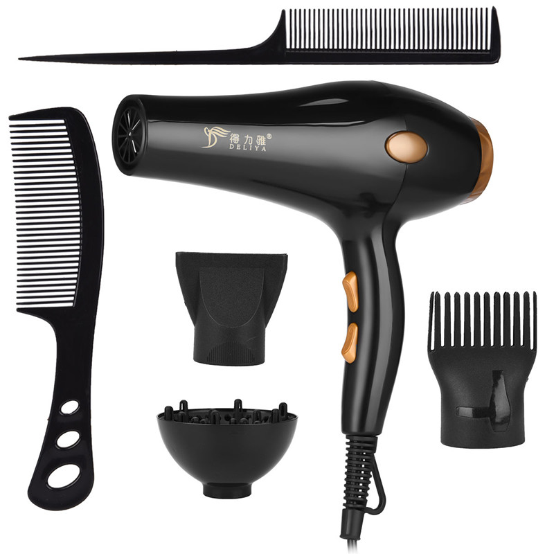 Professional Strong Power Hair Dryer for Hairdressing Barber Salon Tools Blow Dryer Low Hairdryer Hair Blowing Machine with Comb