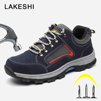 Plus Size 48 Men Boots Work Safety Boots Men Shoes Casual Sneakers Steel Toe Indestructible Shoes Men Safety Shoes For Men