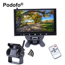 """Podofo Wireless Backup Camera 9 """"HD A Todo Color Del Monitor 2370 Ghz Cámara Trasera 18 INFRARROJOS de Visión Nocturna Impermeable de Remolque/Camión/RV"""