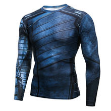 New Avengers Alliance New Winter Soldier 3D Men's Long Sleeved Sports Elastic Quick Dry Compression Shirts Gym Fitness T Shirt(China)