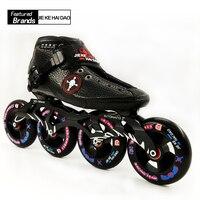 Профессиональная обувь для катания на коньках для взрослых/детский ролик роликовые коньки белые черные Встроенные коньки Большой Круглый