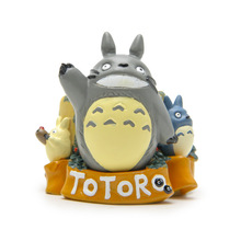 Action & toy figures 6cm Miyazaki Totoro Potted Cartoon Anime Animation Model Toy doll Excellent Kids Gift 13W