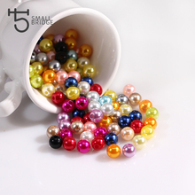 6 8 10 mm Round Acrylic Beads with Hole Imitation Glass Pearl Beads for Jewelry Making Supply Bulk Beads 100pcs Lot Z166