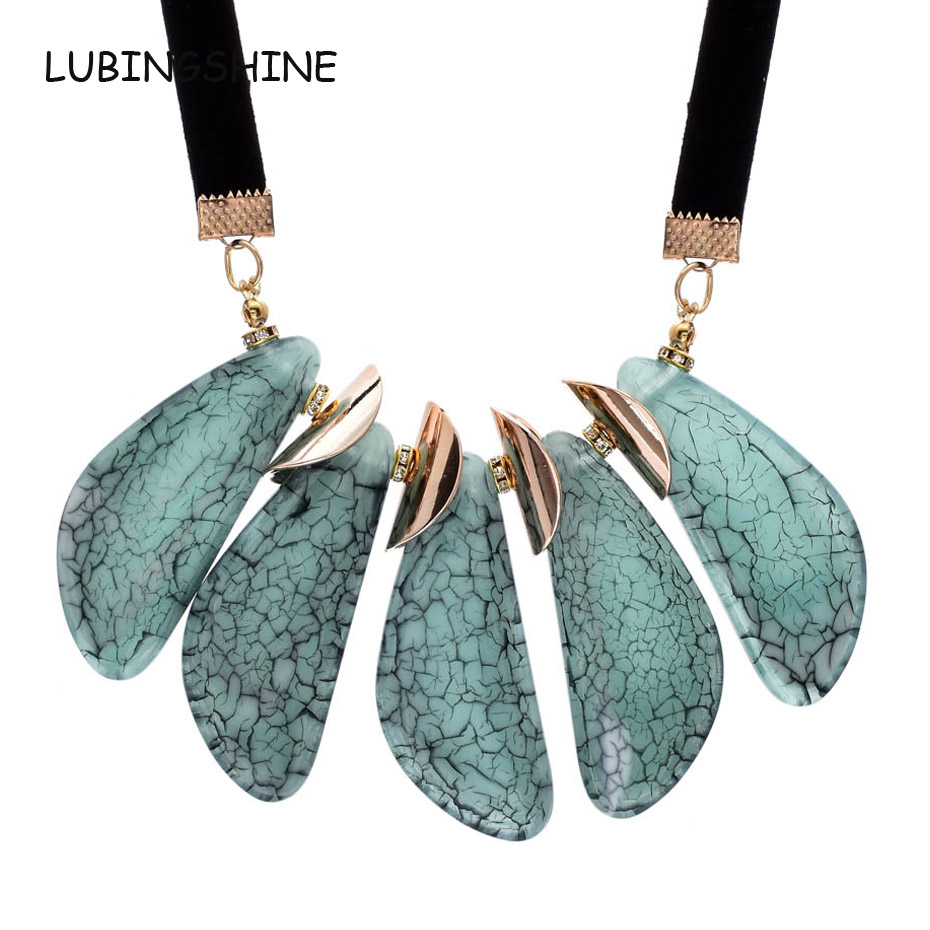 LUBINGSHINE All-match Sweater Women Choker Necklaces Cloth Accessories Elegant Female Acrylic Rope Chain Necklaces & Pendants