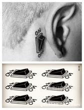 Body Art Waterproof Temporary Tattoos For Men Women Individuality 3d Switch Design Flash Tattoo Sticker HC1059