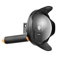 ATEŞ 6 inç 2.0 Görüş Dome Port için GoPro HERO 4 3 + siyah Gümüş Şamandıra Kavrama ile Su Geçirmez Kılıf Dome Git Pro Hero 4 aksesuar