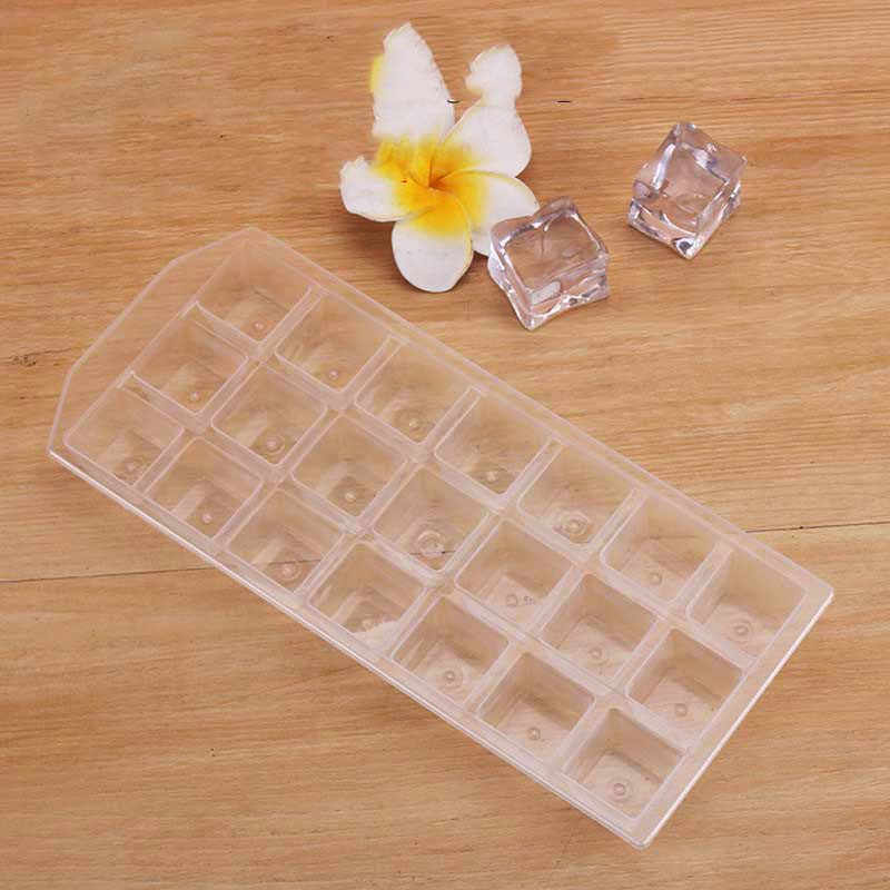High Quality Thicken Plastic 21 Grids Ice Cube Mold DIY Reusable Whisky Ice Tray Jelly Freezer Mould Household Bar Accessories