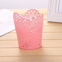1pc Hollow Flower Brush Storage Pen Pencil Pot Holder Container Desk Organizer Gift Multifunctional Storage