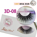 Free shipping 3D-08 1pair/lot 100% real siberian 3d mink fur strip false eyelash long individual eyelashes mink lashes extension