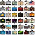 print 10 13 13.3 14 15 15.6 17 17.3 Inch Laptop sleeve Notebook Bag Case Messenger Laptop Bag for ipad macbook HP Asus