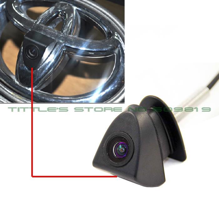 imágenes para 100% IP68 Impermeable granangular 480 TVL HD Color ccd para Toyota Vista Frontal Logo marca de la Cámara