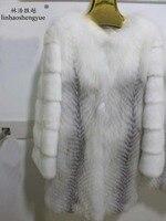 Linhaoshengyue Mink sleeve fox really natural fur coat