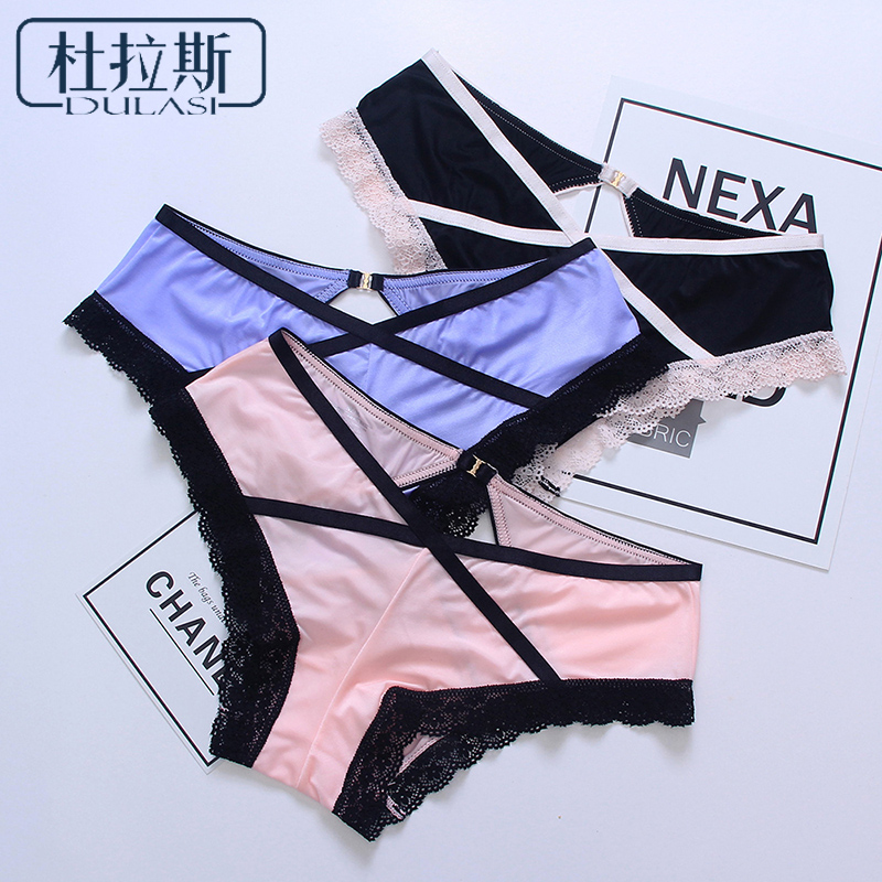DULASI Fashion 1pcs Sexy Lace Panties Women Underwear Satin Panties for Girls Low-Rise Shorts Bikini Sexy Ladies Female Briefs