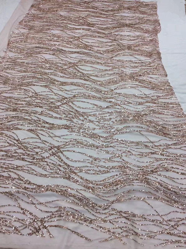 Latest glitter african lace fabric Wholesale France glitter lace high quality LJY 4208 african tulle lace