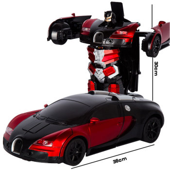 2.4G Induction Deformation RC Cars Transformation Robot Car Toy Light Electric Robot Models Toys for Children Gifts 26 styles rc car transformation robots sports vehicle model robots toys remote cool rc deformation cars kids toys gifts for boys
