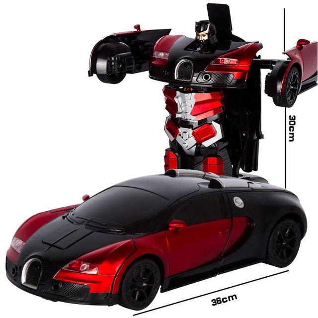 2.4G Induction déformation RC voitures Transformation Robot voiture jouet lumière Robot électrique modèles jouets pour enfants cadeaux