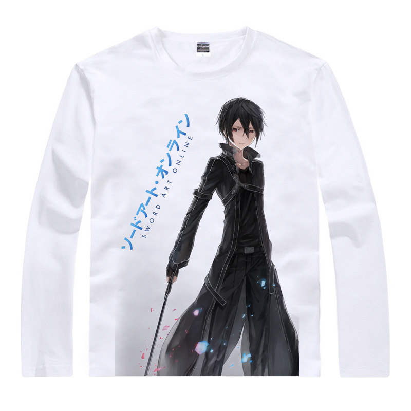 Sword Art Online SAO T-Shirt Asada Shino Shirt Cool Long sleeves t-shirts anime and manga Printed T Shirts cosplay anime shirt a