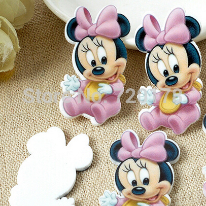 flat back resin cartoon Minnie baby diy holiday decoration craft scrapbooking 600pcs 38x20MM RET130