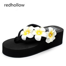 Woman Slippers Beach Flip Flops Summer Sandals Wedges Bohemia Slippers Ladies Platform Sandals  High Heels Shoes Female woman slippers beach flip flops summer sandals wedges bohemia slippers ladies platform sandals high heels shoes female