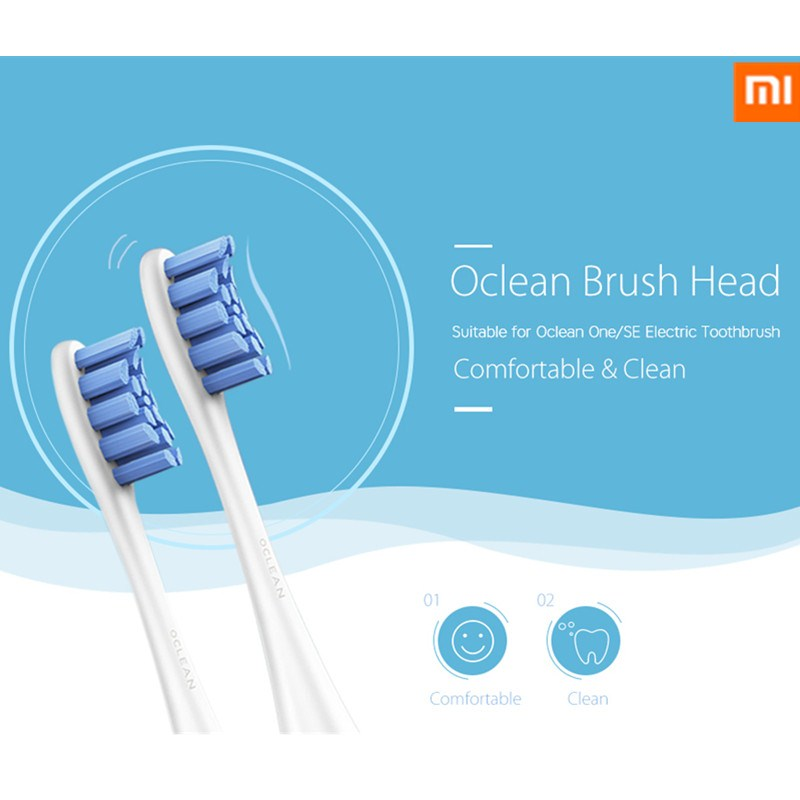 xiaomi Oclean SE / One 2PCS Replacement Brush Heads For Automatic Electric Sonic Toothbrush Deep Cleaning Tooth Brush Heads image