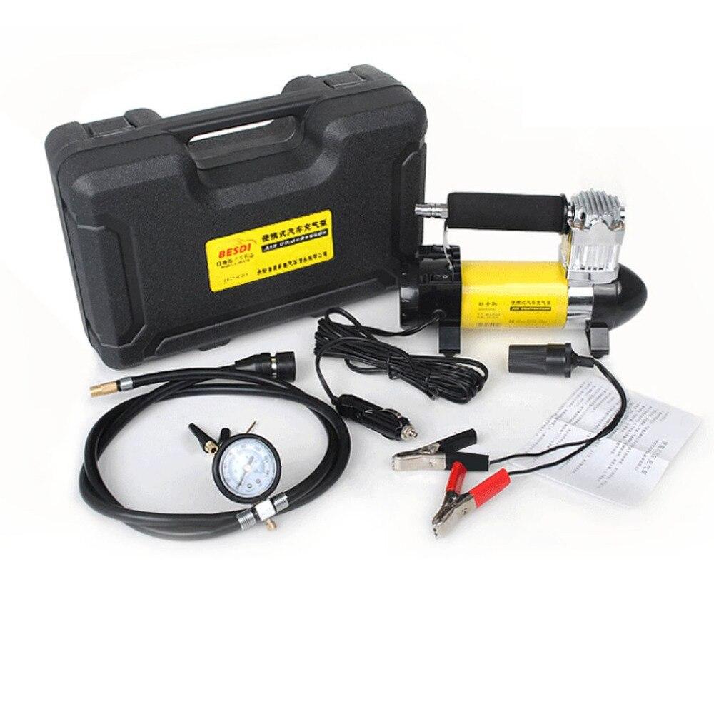 Новый 140PSI 40L/мин автомобильных шин надувной насос 150 Вт 12 В Портативный одноцилиндровый воздушный компрессор с светодиодный свет для аварий...