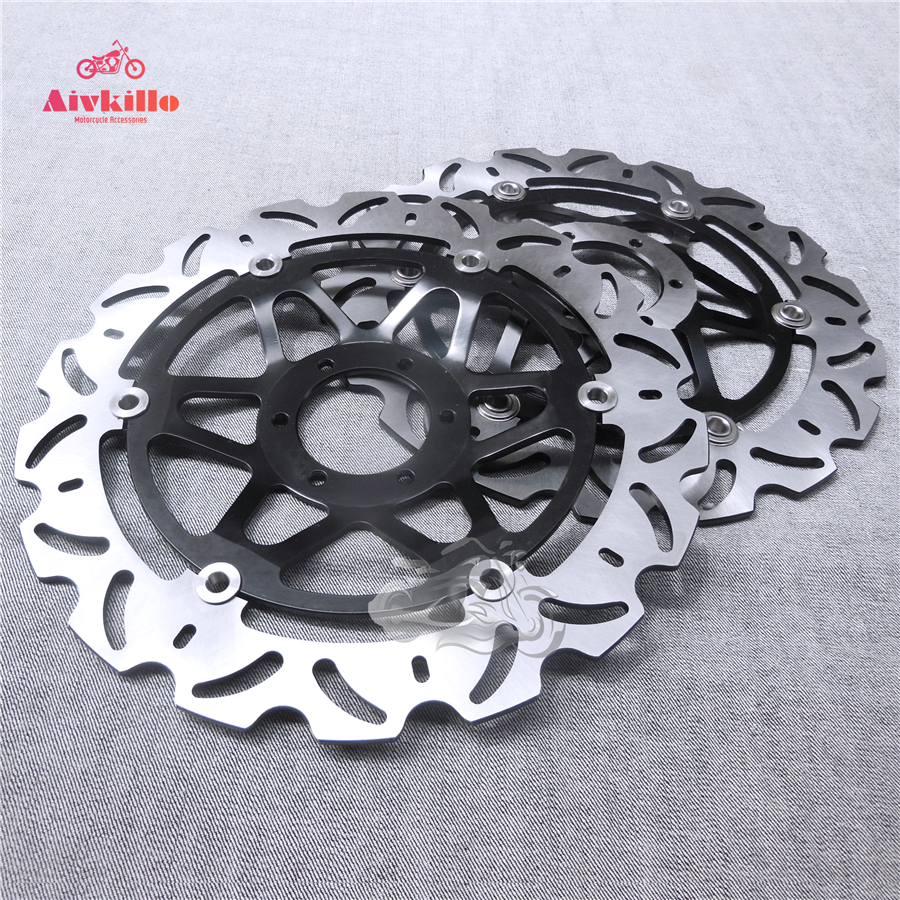 Floating Front Brake Disc Rotor For Motorcycle Honda CB1100SF X-Eleven & CBR1100XX Super Blackbird & CB1300F 296mm motorcycle front wavy floating brake disc rotor for honda cbr600f4i cbr600f cb919f vtx1800 vtx1800f vtx1800n vtx1800t