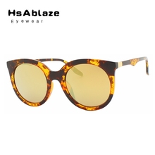 HsAblaze Eyewear Vintage Retro Women Men Round Mirror Oval Lens Sunglasses Women Glasses font b Gafas