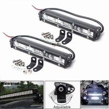 2 adet 36 W 7 inç araba LED iş lambası şeridi nokta sürüş sis işık kapalı yol SUV kamyon 6000 K için