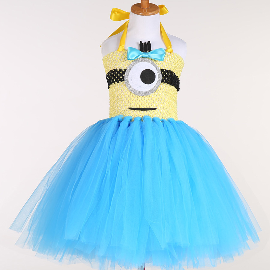 Despicable Me Tutu Dress Girl Evil Minion Cosplay Birthday Party ...