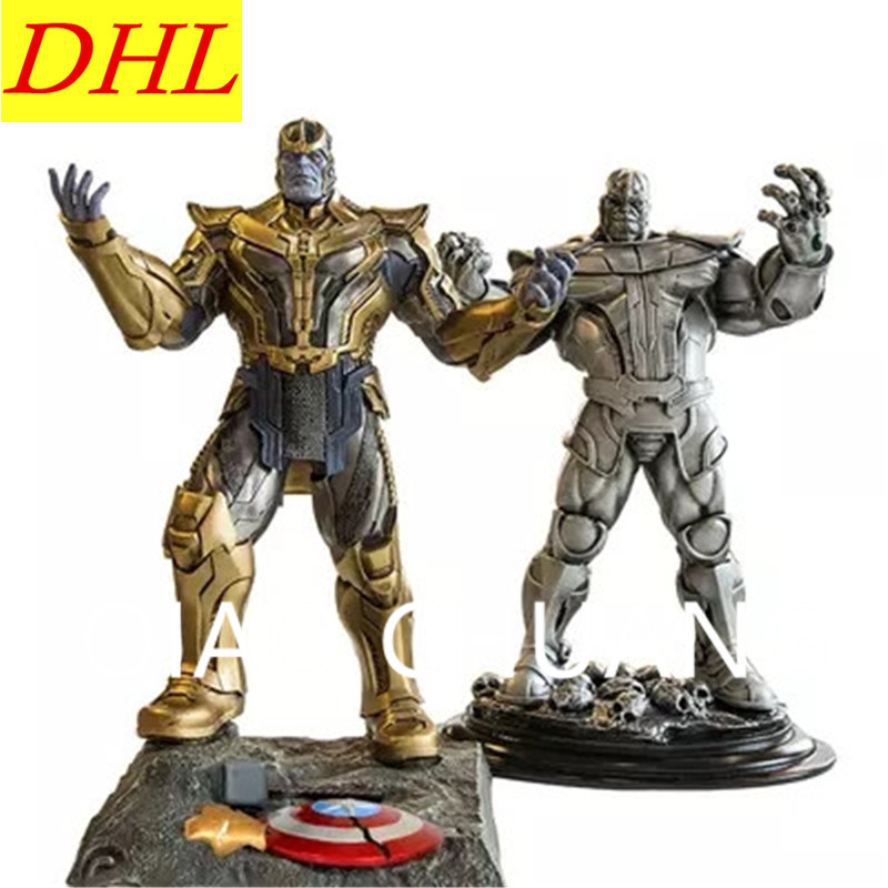 2 Colour The Avengers Guardians Of The Galaxy Supervillain Thanos Sculptures PVC Action Figure Collection Model Bambola G1109