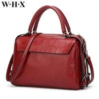 WHX Brand PULeather Crocodile Grain Female Handbag Women Bags Women Crossbody Bag Ladies Shoulder Bag Wallet