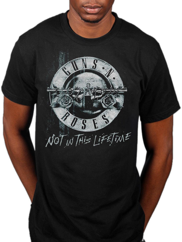 Guns N Roses Vintage Bullet Logo T-Shirt Official Licensed Uomo