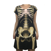 Scary Rip Cage Skeleton Halloween Costume for Women Horror Dress Plus Size