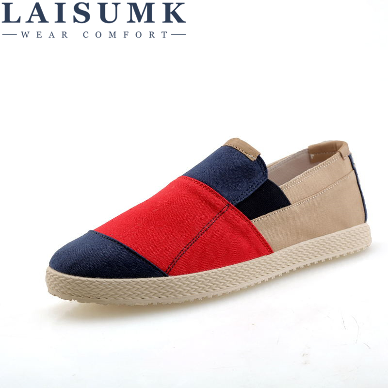 LAISUMK Summer Men Hemp Shoes Espadrilles Designer Breathable Casual Boat Shoes Men Loafers Ultralight Lazy Shoes Beige Flats in Men 39 s Casual Shoes from Shoes