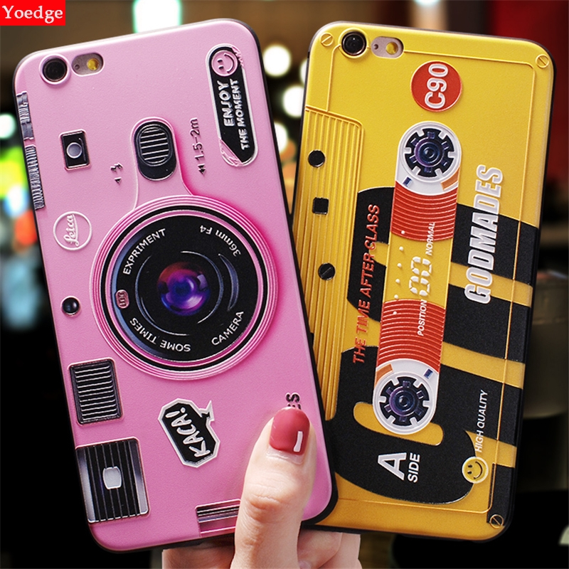 3D Camera Redio Case For Motorola Mote E4 G5 G5S Plus G6 Play For <font><b>Nokia</b></font> <font><b>6</b></font> 7 Plus <font><b>Cover</b></font> For Moto E4 Emboss Silicon Geometic Coque image