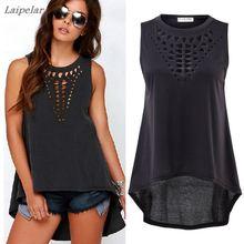 Fashion 2XL XXXL Plus Size Summer Women Blouses Tops Clothing New Ladies Blusas Femininas black sleeveless blouse