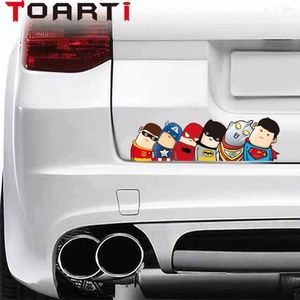 Image 1 - Car Styling Super Hero Hitchhike Save The World Moto Stickers Motorcycle Decal Funny Cartoon Reflective Car Sticker Accessories