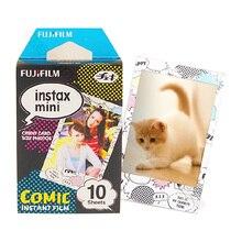 Genuine 10 Sheets Comic Instax Fujifilm Photo Paper For Fuji Instant Mnini 9 8 50s 7s 90 25 Cameras Share SP 1 SP 2 SP 3 Printer