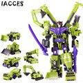 Tamanho Big novo Meninos Construções de Deformação Robô Modelo Figuras de Ação Brinquedos Clássico Anime Presente veículo de Engenharia