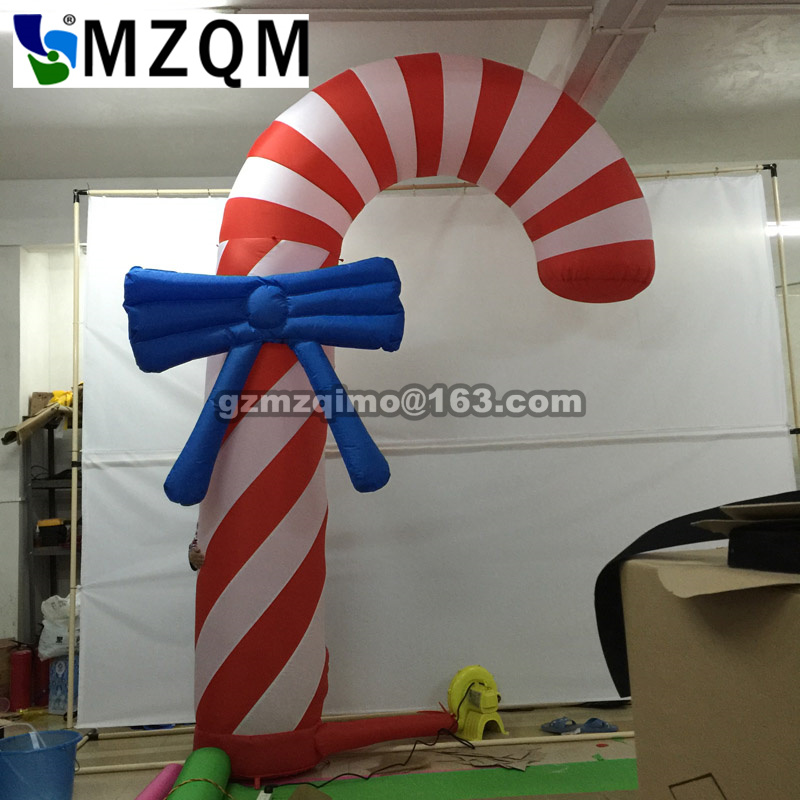 MZQM 2017 New Inflatable Christmas Crutches 10ft  high factory direct saleMZQM 2017 New Inflatable Christmas Crutches 10ft  high factory direct sale