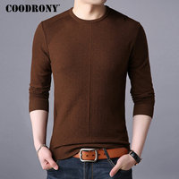 COODRONY Mens Sweaters 2018 Autumn Winter New Arrival Casual O Neck Sweater Men Knitted Cashmere Wool Pullover Men Jumper 8216