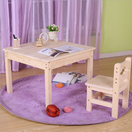 Children Furniture Sets kids Furniture set solid wood 1 desk+1 chair sets kids table and chair sets mesa infantil hot 70*70*50cm