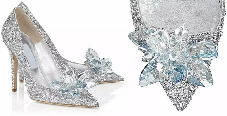 b0f7245b5b0a8e Newest cinderella primiere stunning glasses shoes bling bling silver  crystal wedding pumps high heel jeweled glittering shoes-in Women s Pumps  from Shoes on ...