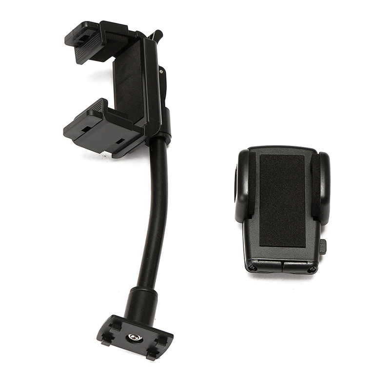 Universal For Cellphone GPS Navigation 360 Degree Rotate Car Rearview Mirror Mount Mobile Phone Holder Hard Plastic Stand Cradle