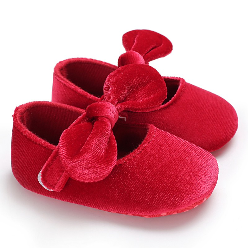 2018 Spring Summer Newborn Toddler Shoes Velvet Bow Princess Soft Socks Fashion Baby Girl Children The First Walker