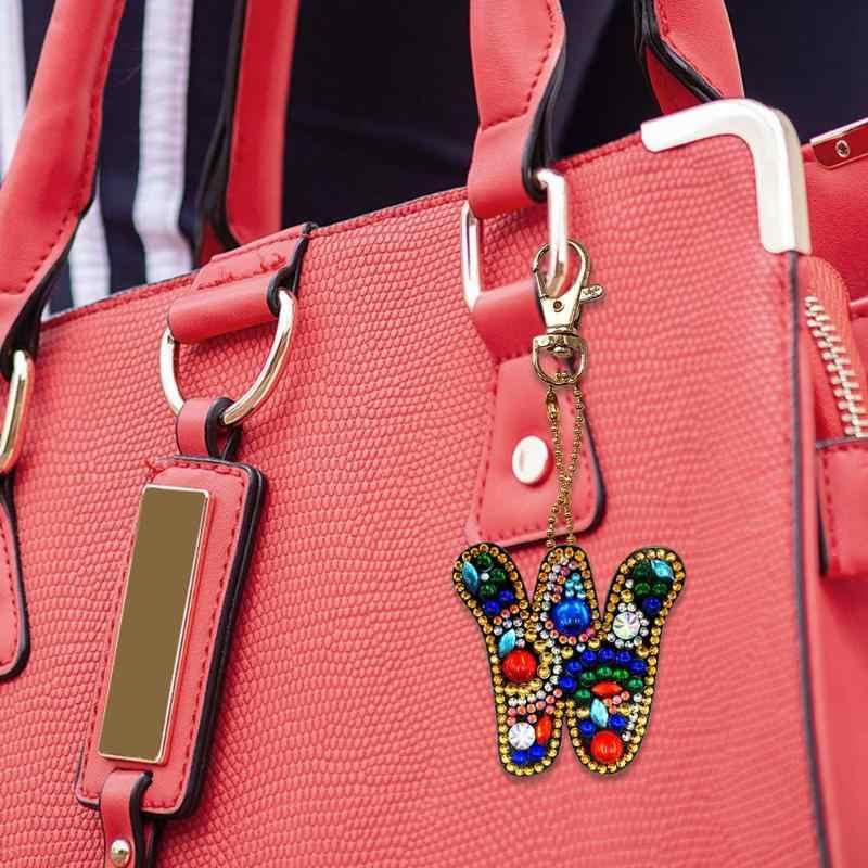 Креативный DIY Алмазная картина 26 букв каучуковая сумка Подарочный Брелок рюкзак сумка Висячие аксессуары
