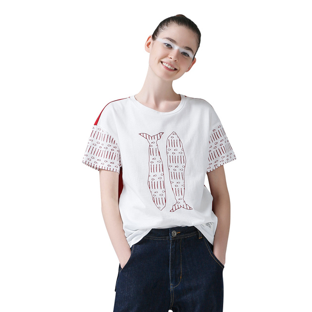 New Arrival Summer Hit Color Round-Neck Cotton T-Shirt