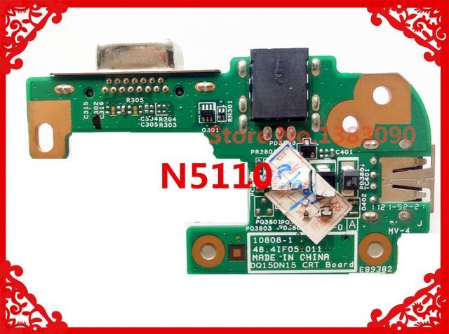 Original For DELL N5110 DQ15DN15 CRT AC DC JACK USB BOARD 48.4IF05.011 10808-1 100% Tested Fast Ship