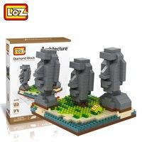 LOZ Diamant Blocs Ile De Paques Statue Celebre L'architecture Chili Assemblage de Blocs de Construction Modele Jouets Educatifs